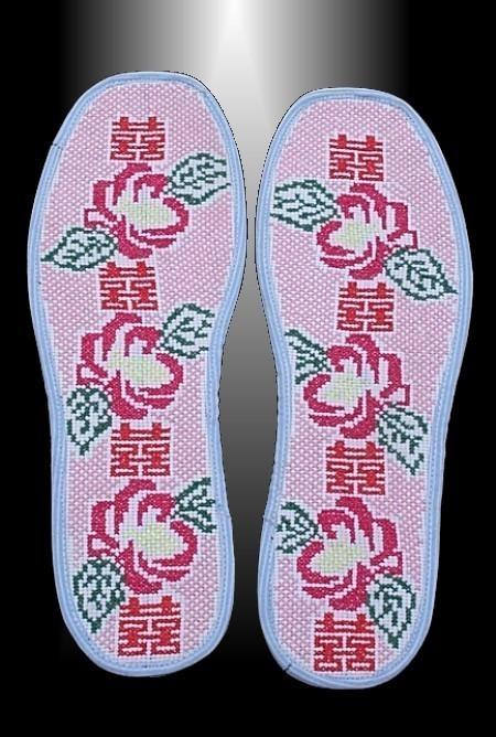 手工扎织类绣花鞋垫:18元/双