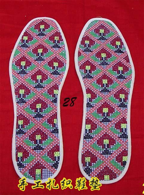 扎鞋垫图案步骤
